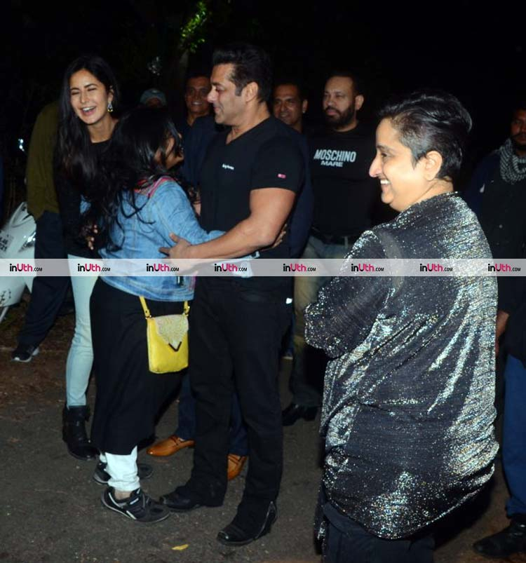 Salman Khan with a fan at his birthday celebrations