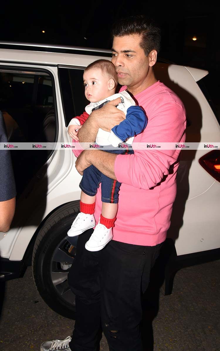 Yash Johar with his father Karan Johar