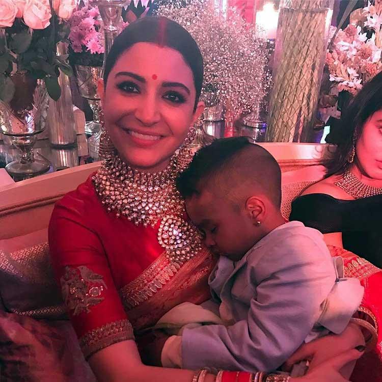 Anushka Sharma with Shikhar Dhawan's son Zoravar