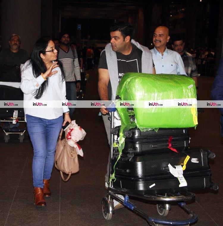 Anushka Sharma's family at the airport