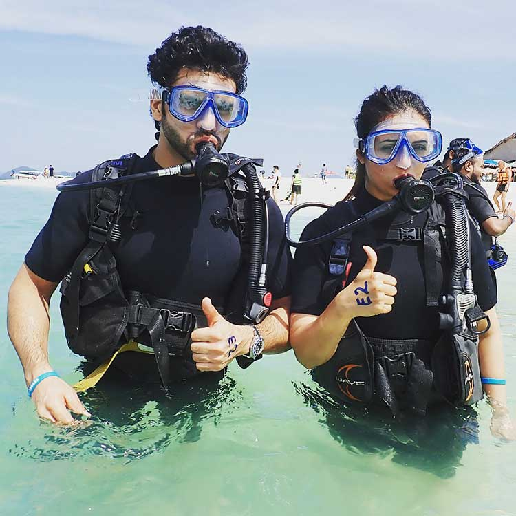 Divyanka Tripathi and Vivek Dahiya all set for scuba diving