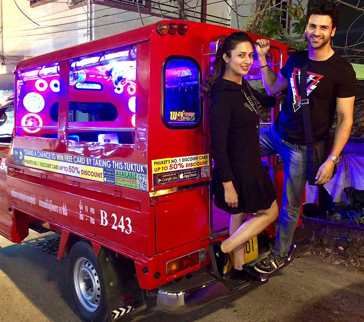 Divyanka Tripathi and Vivek Dahiya's Tuk Tuk ride in Phuket
