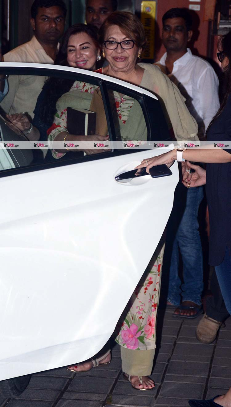 Helen snapped at Salma Khan's 75th birthday party