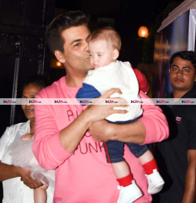 Karan Johar kissing son Yash