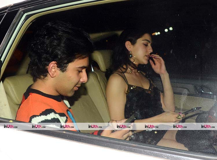 Sara Ali Khan at Kareena Kapoor and Saif Ali Khan's Christmas party