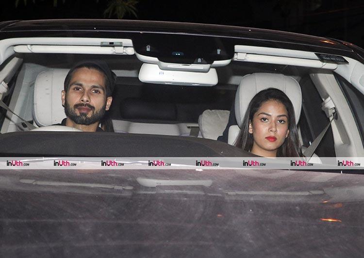Shahid Kapoor and Mira Rajput arriving at the special screening of Tiger Zinda Hai