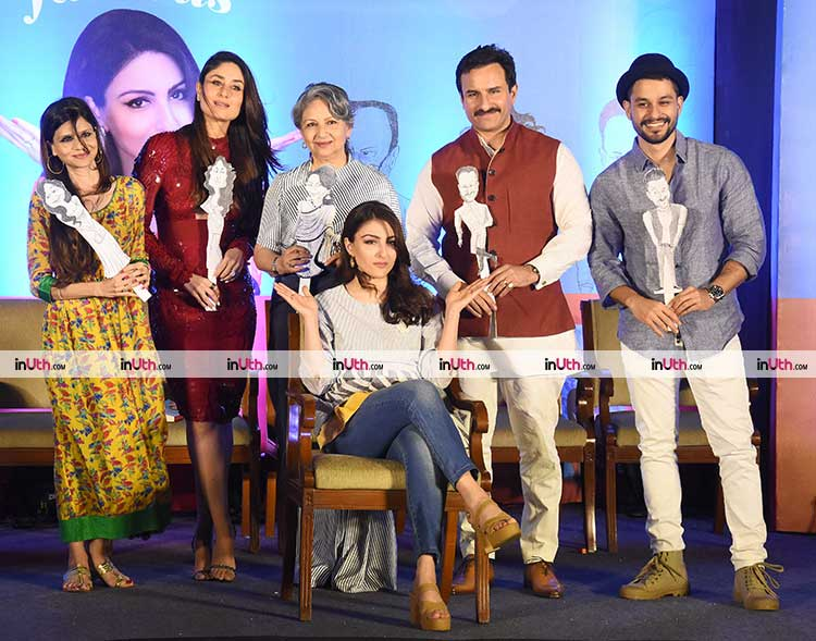 Soha Ali Khan and her family at the launch of The Perils of Being Moderately Famous