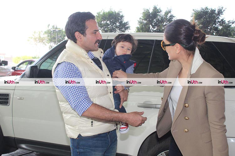 Taimur spotted at the airport with his parents