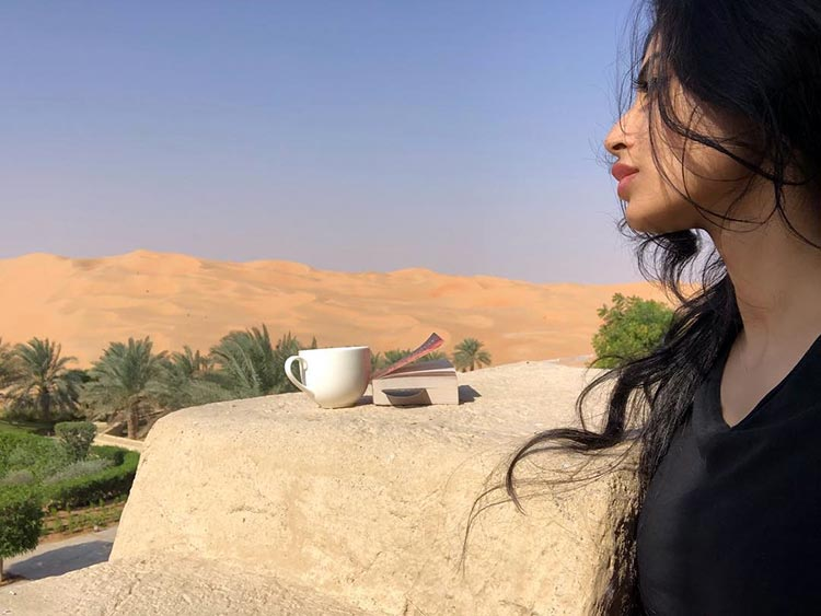 Mouni Roy's me time with 'chai aur kitaab'