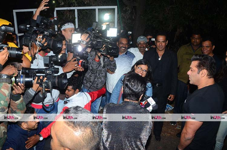 Salman Khan interacting with the media on his birthday eve