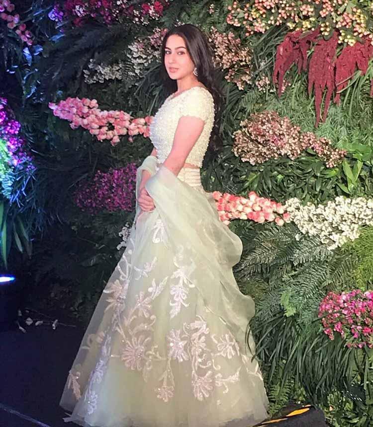 Sara Ali Khan in Abu Jani Sandeep Khosla for Virat Kohli-Anushka Sharma reception