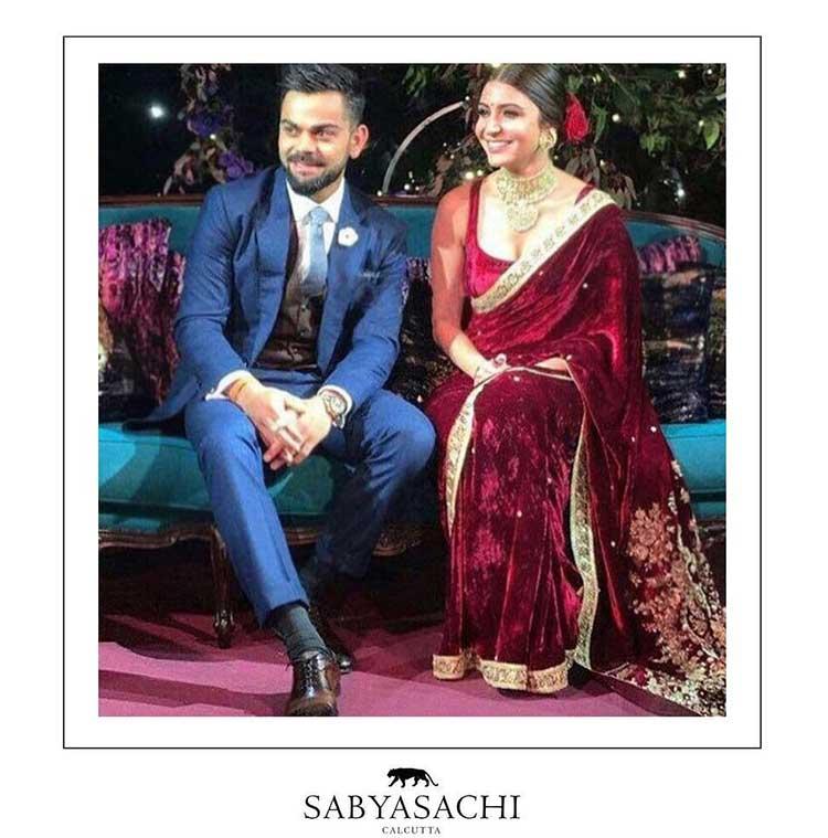 Virat Kohli and Anushka Sharma at their engagement ceremony