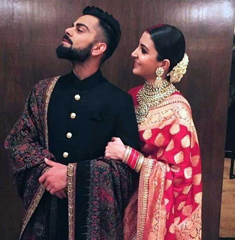 Virat Kohli and Anushka Sharma's cute pic from their wedding reception party