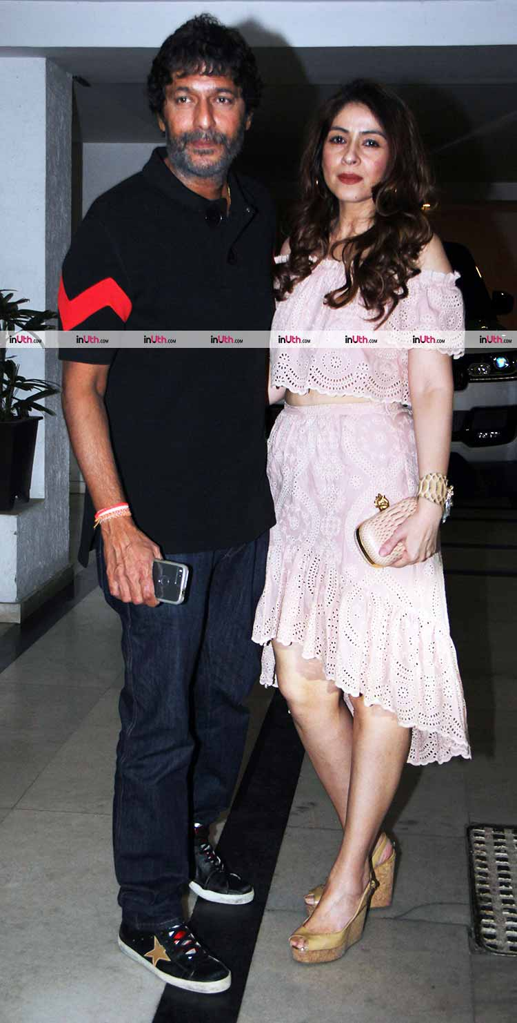 Chunkey and Bhavna Pandey at Karan Johar's Christmas party