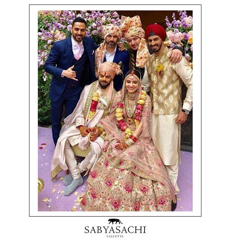 Virat Kohli and Anushka Sharma look spectacular in their wedding pics
