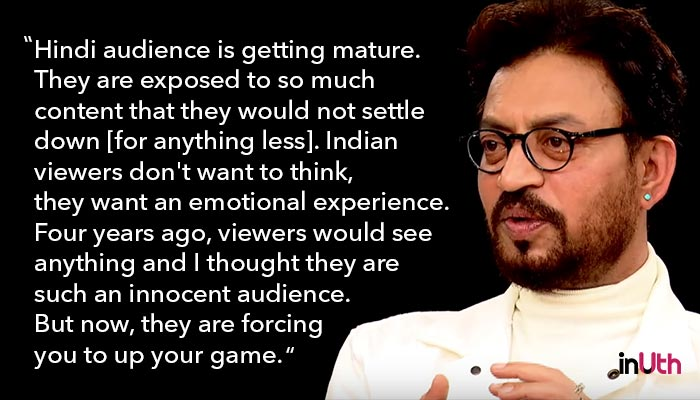 Irrfan Khan, Actors Roundtable