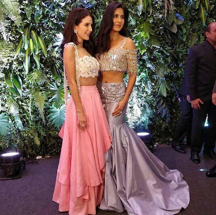 Katrina and Isabelle Kaif at Virat Kohli and Anushka Sharma's wedding reception