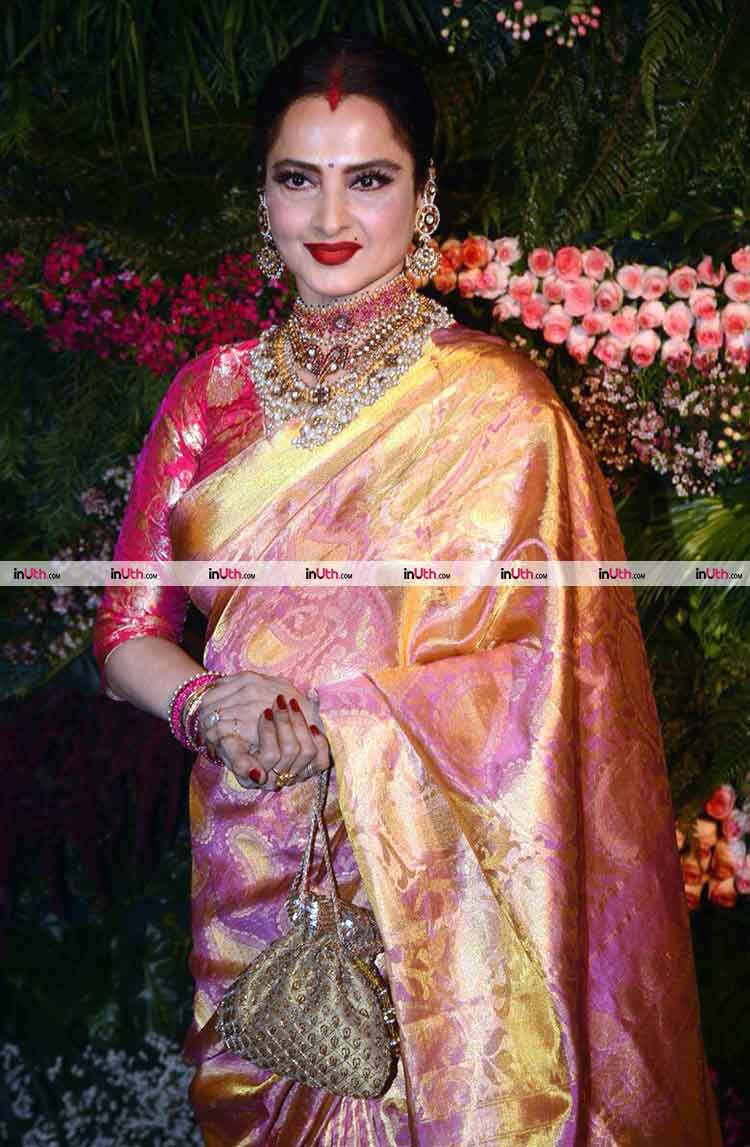 Anushka Sharma Virat Kohli Wedding Reception Photos Rekha At Virat