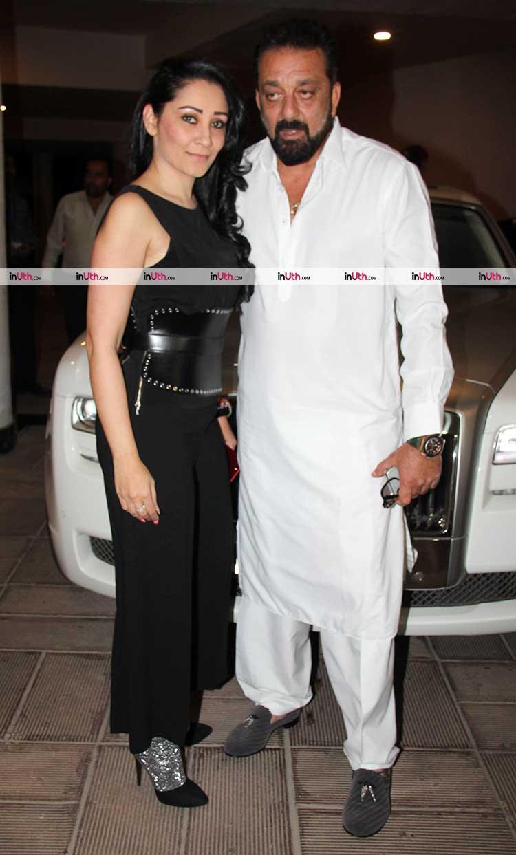 Sanjay and Maanayata Dutt at Manish Malhotra's party