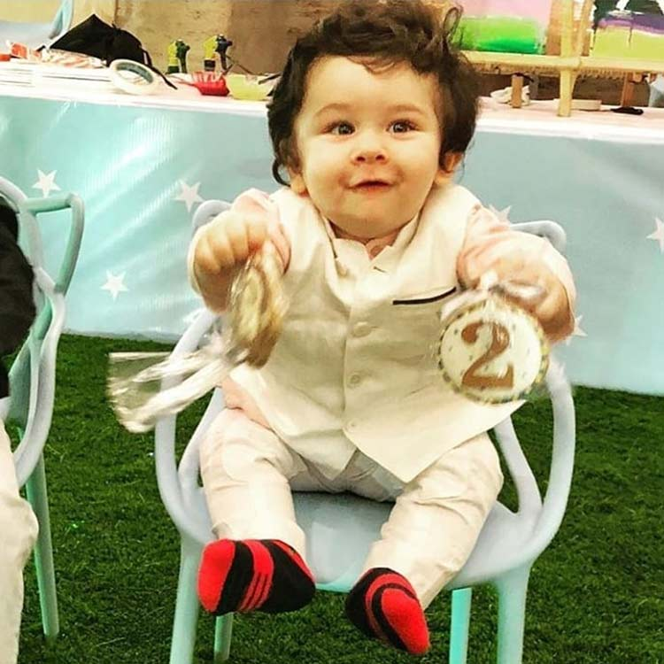 Taimur Ali Khan snapped during his birthday party