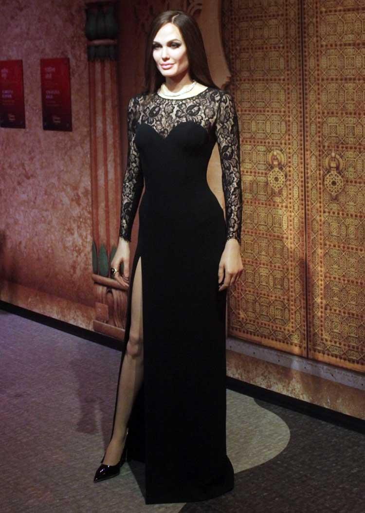 Wax figure of Angelina Jolie at Madame Tussauds Delhi