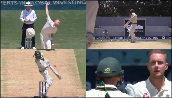 Stuart Broad breaks Nathan Lyon's helmet with a bouncer but wins hearts with his sportsmanship —WATCH