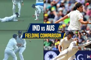 India vs Australia fielding comparison, IND vs AUS, Nathan Lyon catch, Ashes 2017 best catches, Mitchell Starc catch, India vs Sri Lanka 2017, Australia vs England 2017, India dropped catches