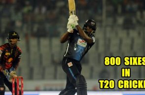 Chris Gayle hit 45-ball century in BPL, becomes 1st batsman to hit 800 sixes in T20 cricket - Watch
