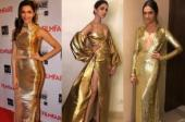 Deepika Padukone in golden outfit