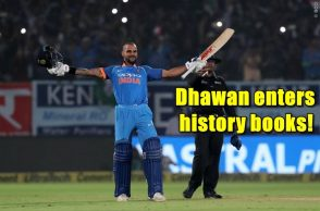 Shikhar Dhawan, Gordon Greenidge, India vs Sri Lanka 2017, IND vs SL 2017, India vs Sri Lanka 3rd ODI, Fastest to 4,000 ODI runs, fastest to 4,000 ODI runs list