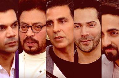 Rajkummar Rao, Ayushmann Khurrana, Irrfan Khan, Varun Dhawan and Akshay Kumar