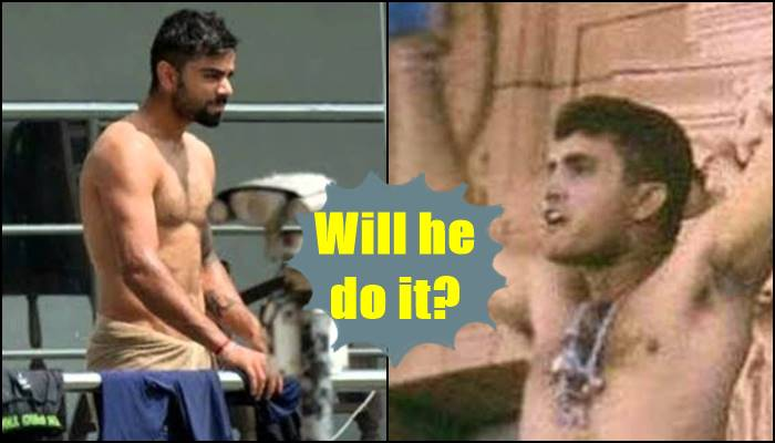 Sourav Ganguly predicts Virat Kohli will roam around Oxford Street without his shirt if this happens — Watch