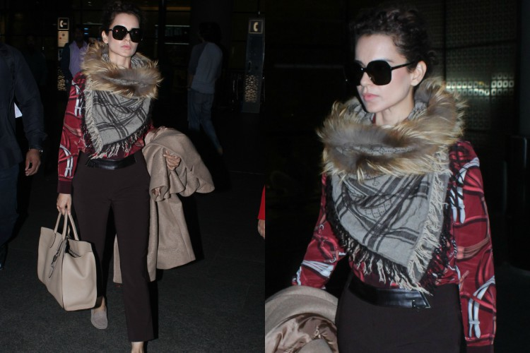 Kangana Ranaut's winter 'airport look' is a reminder that you don't need much to look stylish