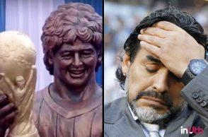 Maradona statue in Kolkata