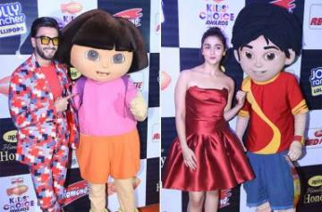 Alia, Ranveer, Varun at Nickelodeon Kids Choice Awards 2017