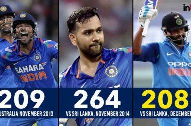 Rohit Sharma's journey to three ODI double centuries