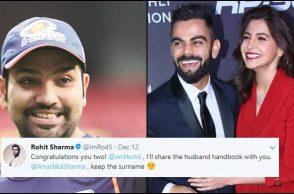 Anushka Sharma, Virat Kohli, Rohit Sharma, Rohit Sharma Twitter, Virushka marriage, Virat-Anushka marriage, Anushka Sharma Twitter, Anushka Sharma responds, Rohit Sharma 3rd ODI double ton