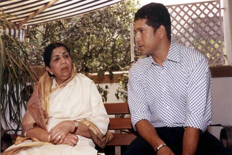 Sachin Tendulkar with Lata Mangeshkar
