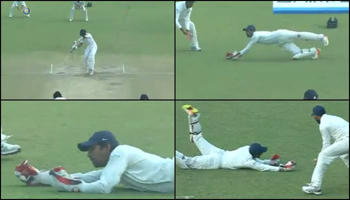 Wriddhiman 'SUPERMAN' Saha takes blinder to dismiss Samarawickrama, reaction time 0.592 seconds — WATCH