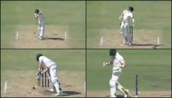 Steven Smith survives a meaty blow to the head, still manages to save his wicket — WATCH