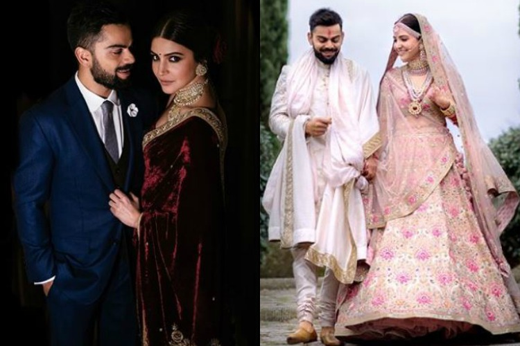 Virat Kohli and Anushka Sharma's gorgeous wedding trousseau was courtesySabyasachi