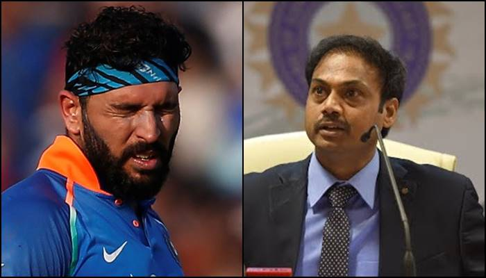 BCCI selector MSK Prasad reveals why Yuvraj Singh was not selected in Indian squad — WATCH