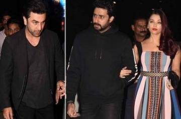 Abhishek, Aishwarya, Ranbir at Bunty Walia's birthday party