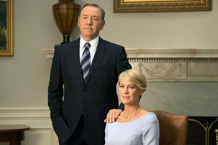 A still from House of Cards, Kavin Spacey, Robin Wright | Photo created for InUth.com