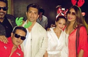 Bipasha Basu and Karan Singh Grover's Christmas celebrations