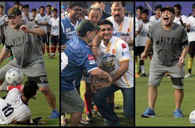 Maradona enthralls Kolkata crowd, shows his dribbling skills; Sourav Ganguly joins the party - See photos