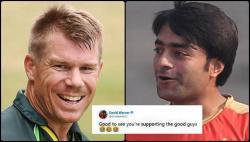 David Warner trolls England, praises Rashid Khan for supporting 'good guys' of Australia in Ashes