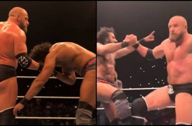WWE Star Jinder Mahal does Bhangra with Triple H, touches his feet after losing fight - Watch Video