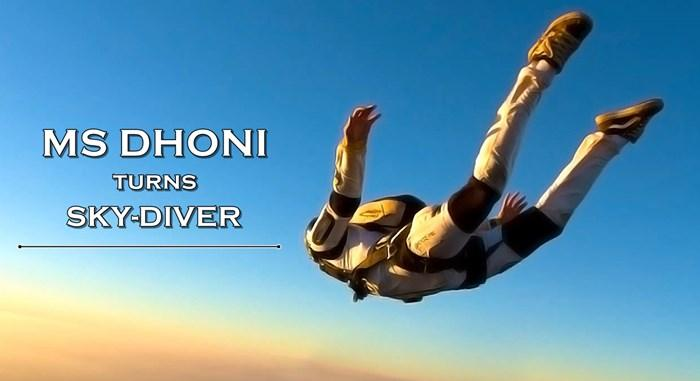 MS Dhoni turns skydiver, jumps from an airplane — SeePhoto