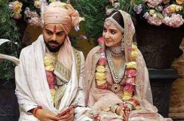 Anushka and Virat wedding photo